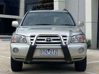 2005 Toyota Kluger MCU28R MY06 CVX AWD Silver 5 Speed Automatic Wagon.