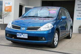 2007 Nissan Tiida C11 MY07 ST Blue 4 Speed Automatic Hatchback.