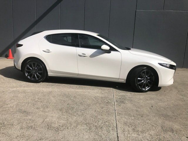 New Mazda 3 BP2HLA G25 SKYACTIV-Drive GT Alexandria, 2021 Mazda 3 BP2HLA G25 SKYACTIV-Drive GT Snowflake White 6 Speed Sports Automatic Hatchback