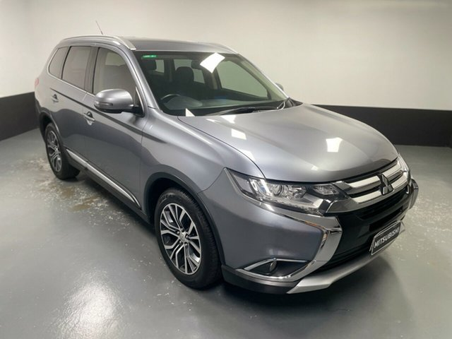 Used Mitsubishi Outlander ZK MY16 XLS 4WD Hamilton, 2016 Mitsubishi Outlander ZK MY16 XLS 4WD Grey 6 Speed Sports Automatic Wagon