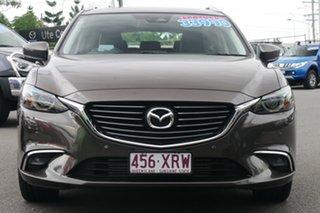 2017 Mazda 6 GL1021 GT SKYACTIV-Drive Bronze 6 Speed Sports Automatic Wagon.