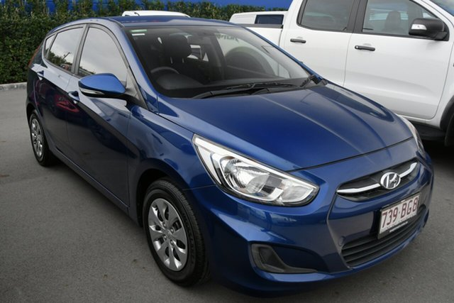 Used Hyundai Accent RB4 MY16 Active Aspley, 2016 Hyundai Accent RB4 MY16 Active Blue 6 Speed Constant Variable Hatchback