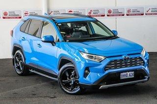 2019 Toyota RAV4 Axah54R Cruiser eFour Eclectic Blue 6 Speed Constant Variable Wagon Hybrid.