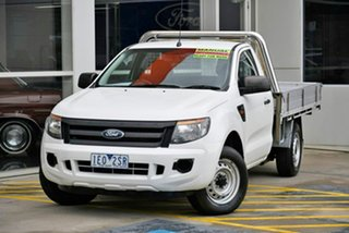 2015 Ford Ranger PX XL White 6 Speed Manual Cab Chassis.