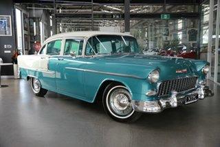1955 Chevrolet Bel-Air 55 Green 2 Speed Sedan.