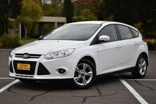 2014 Ford Focus LW MkII Trend PwrShift White 6 Speed Auto Sportshift Hatchback.