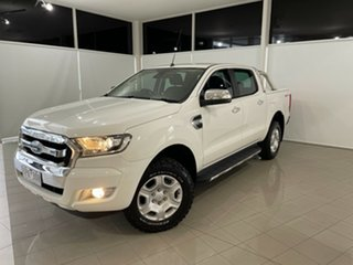 2015 Ford Ranger PX MkII XLT Double Cab 4x2 Hi-Rider White 6 Speed Sports Automatic Utility.