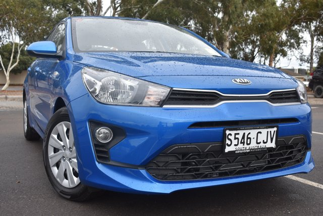Demo Kia Rio YB MY21 S St Marys, 2021 Kia Rio YB MY21 S Sporty Blue 6 Speed Automatic Hatchback