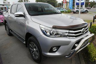 2017 Toyota Hilux GUN126R SR5 Double Cab Silver 6 Speed Manual Utility.