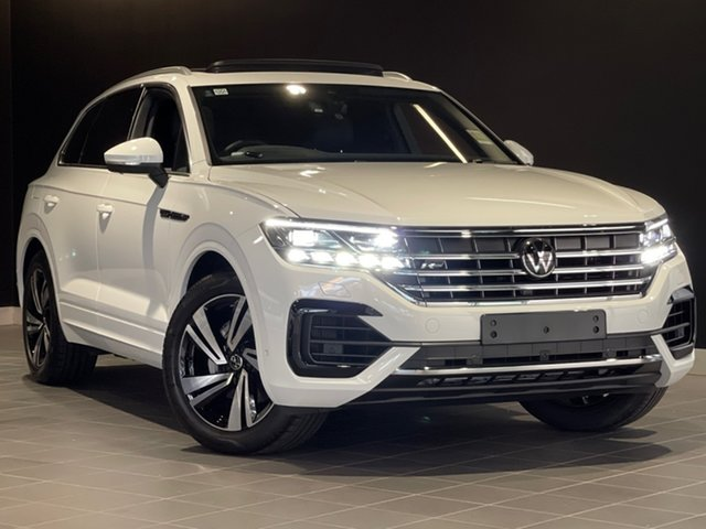 New Volkswagen Touareg CR MY21 210TDI Tiptronic 4MOTION R-Line Moorabbin, 2020 Volkswagen Touareg CR MY21 210TDI Tiptronic 4MOTION R-Line White 8 Speed Sports Automatic Wagon