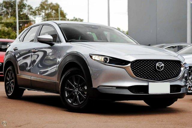 New Mazda CX-30 DM2W7A G20 SKYACTIV-Drive Pure Waitara, 2021 Mazda CX-30 DM2W7A G20 SKYACTIV-Drive Pure Silver 6 Speed Sports Automatic Wagon
