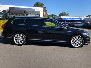 2017 Volkswagen Passat 3C (B8) MY18 206TSI DSG 4MOTION R-Line Black 6 Speed