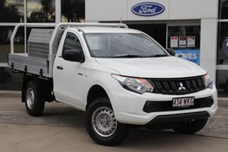 2016 Mitsubishi Triton MQ MY16 GLX 4x2 White 5 Speed Manual Cab Chassis.