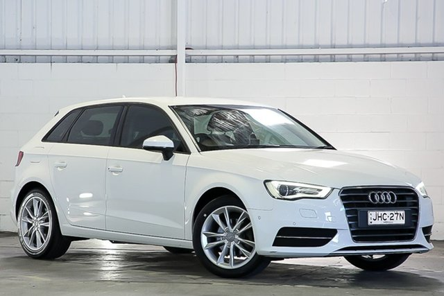 Used Audi A3 8V MY15 Attraction Sportback S Tronic West Gosford, 2015 Audi A3 8V MY15 Attraction Sportback S Tronic White 7 Speed Sports Automatic Dual Clutch
