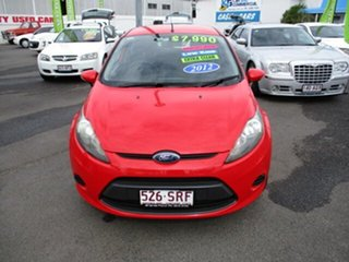 2012 Ford Fiesta Red 5 Speed Manual Hatchback.