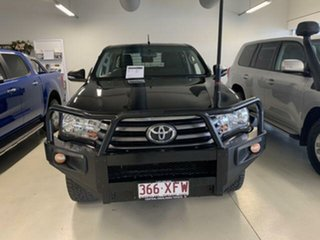 2017 Toyota Hilux GUN126R SR (4x4) Black 6 Speed Automatic Dual Cab Chassis.