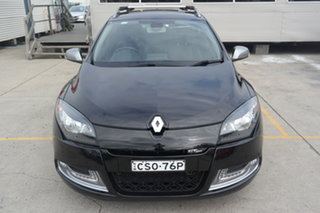 2013 Renault Megane III K95 MY13 GT-Line Sportwagon Black 6 Speed Constant Variable Wagon.