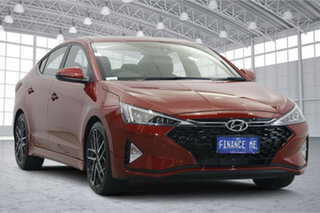 2020 Hyundai Elantra AD.2 MY20 Sport Premium Fiery Red 6 Speed Manual Sedan.