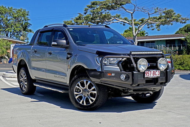 Used Ford Ranger PX MkII Wildtrak Double Cab Capalaba, 2015 Ford Ranger PX MkII Wildtrak Double Cab Aluminium 6 Speed Sports Automatic Utility