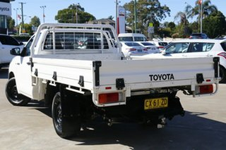 2016 Toyota Hilux TGN121R Workmate 4x2 Glacier White 6 Speed Automatic Cab Chassis.