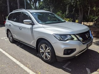 2018 Nissan Pathfinder R52 Series II MY17 ST X-tronic 4WD Silver 1 Speed Constant Variable Wagon.