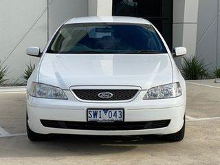 2004 Ford Falcon BA Futura White 4 Speed Sports Automatic Sedan.