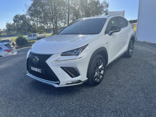 2020 Lexus NX AGZ10R NX300 2WD F Sport Pearl White 6 Speed Sports Automatic Wagon