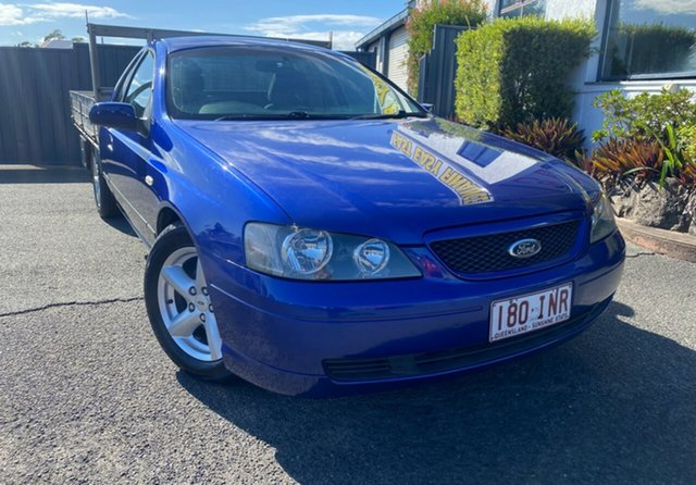 Used Ford Falcon BA XLS Super Cab Slacks Creek, 2003 Ford Falcon BA XLS Super Cab Blue 4 Speed Sports Automatic Cab Chassis