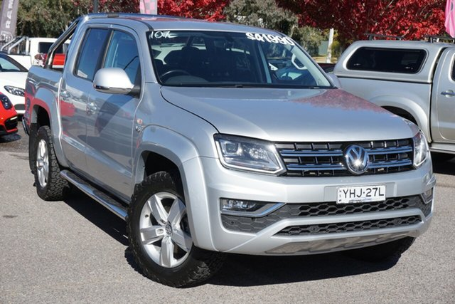 Used Volkswagen Amarok 2H MY17 TDI550 4MOTION Perm Highline Phillip, 2017 Volkswagen Amarok 2H MY17 TDI550 4MOTION Perm Highline Silver 8 Speed Automatic Utility