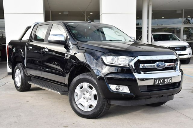 Used Ford Ranger PX MkII 2018.00MY XLT Double Cab Oakleigh, 2018 Ford Ranger PX MkII 2018.00MY XLT Double Cab Black 6 Speed Sports Automatic Utility