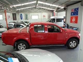 2010 Nissan Navara D40 ST Red 5 Speed Automatic Utility