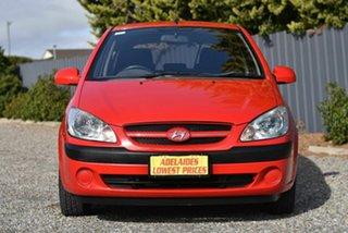 2006 Hyundai Getz TB MY06 Red 4 Speed Automatic Hatchback.
