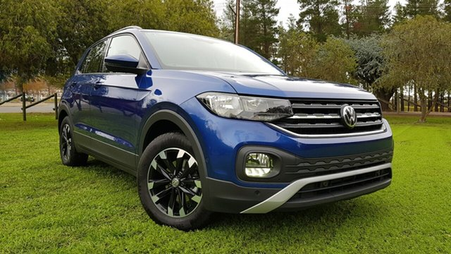 Used Volkswagen T-Cross C1 MY20 85TSI DSG FWD Life Nuriootpa, 2020 Volkswagen T-Cross C1 MY20 85TSI DSG FWD Life Reef Blue Metallic/black Cloth 7 Speed