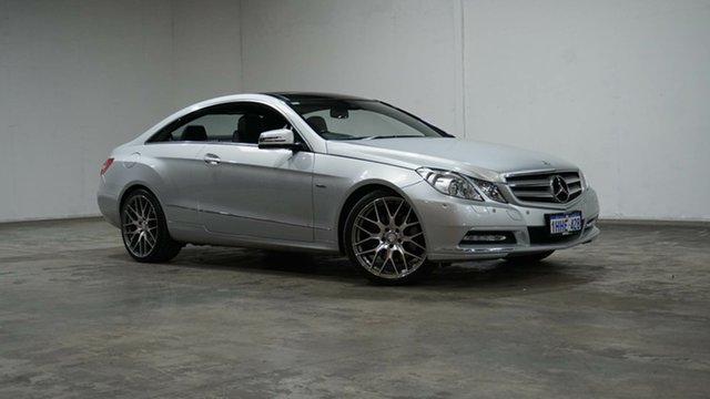Used Mercedes-Benz E-Class C207 MY12 E250 CDI BlueEFFICIENCY 7G-Tronic + Avantgarde Welshpool, 2011 Mercedes-Benz E-Class C207 MY12 E250 CDI BlueEFFICIENCY 7G-Tronic + Avantgarde Iridium Silver