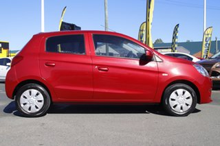 2013 Mitsubishi Mirage LA MY14 ES Planet Red 1 Speed Constant Variable Hatchback