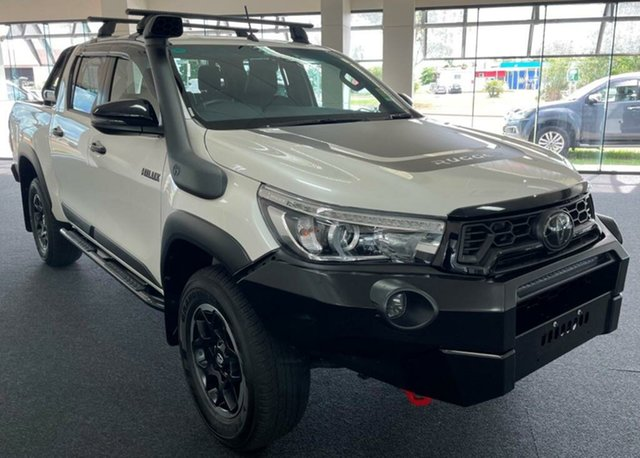 Used Toyota Hilux GUN126R Rugged X Double Cab Winnellie, 2019 Toyota Hilux GUN126R Rugged X Double Cab White 6 Speed Sports Automatic Utility