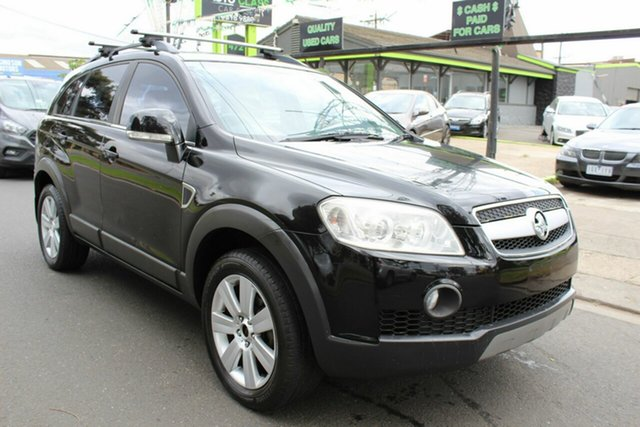 Used Holden Captiva CG LX AWD West Footscray, 2007 Holden Captiva CG LX AWD Black 5 Speed Sports Automatic Wagon