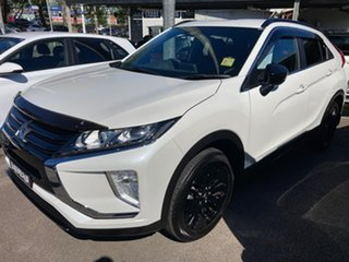 2020 Mitsubishi Eclipse Cross YA MY20 Black Edition 2WD White 8 Speed Constant Variable Wagon.