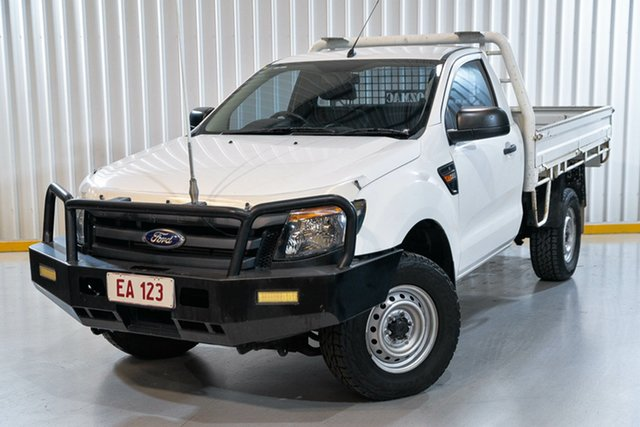 Used Ford Ranger PX XL Hendra, 2013 Ford Ranger PX XL White 6 Speed Manual Cab Chassis