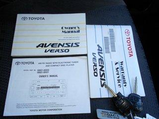 2006 Toyota Avensis Verso ACM21R GLX White 4 Speed Automatic Wagon