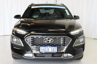 2018 Hyundai Kona OS MY18 Highlander D-CT AWD Black 7 Speed Sports Automatic Dual Clutch Wagon