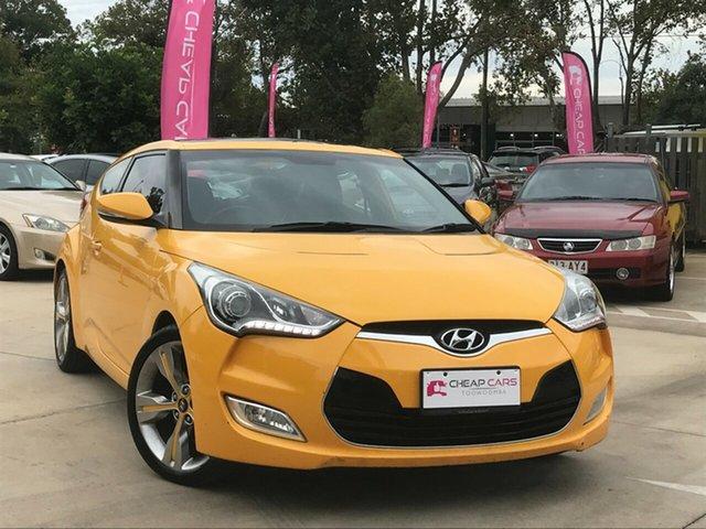 Used Hyundai Veloster FS + Coupe Toowoomba, 2012 Hyundai Veloster FS + Coupe Yellow 6 Speed Manual Hatchback