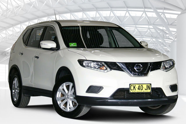 Used Nissan X-Trail T32 ST (FWD) Moorebank, 2017 Nissan X-Trail T32 ST (FWD) Ivory Pearl Continuous Variable Wagon