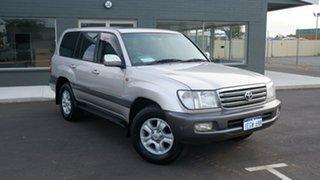 2003 Toyota Landcruiser UZJ100R Sahara Silver 5 Speed Automatic Wagon.