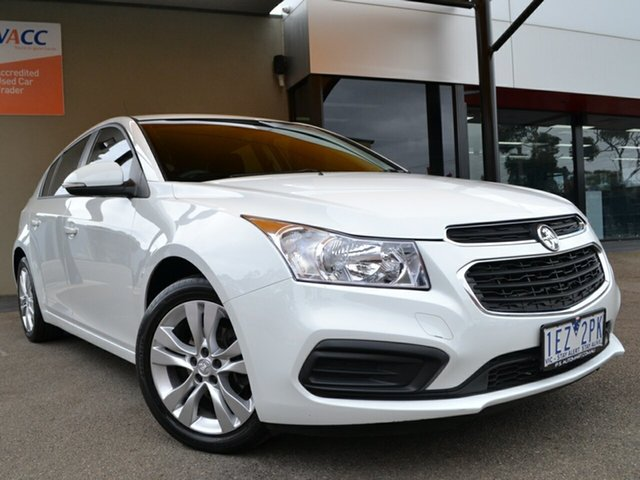 Used Holden Cruze JH Series II MY15 Equipe Fawkner, 2015 Holden Cruze JH Series II MY15 Equipe White 6 Speed Sports Automatic Hatchback