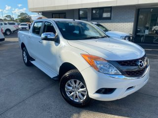2014 Mazda BT-50 UP0YF1 XTR White 6 Speed Sports Automatic Utility.