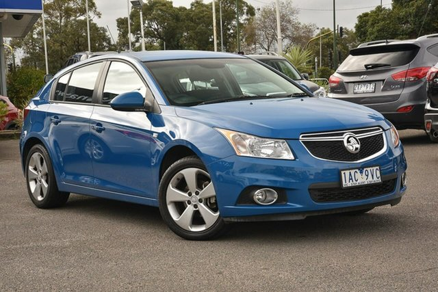 Used Holden Cruze JH Series II MY13 Equipe Nunawading, 2013 Holden Cruze JH Series II MY13 Equipe Blue 5 Speed Manual Hatchback