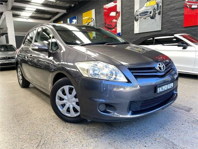 Used Toyota Corolla ZRE152R Ascent Glebe, 2010 Toyota Corolla ZRE152R Ascent Grey Automatic Hatchback