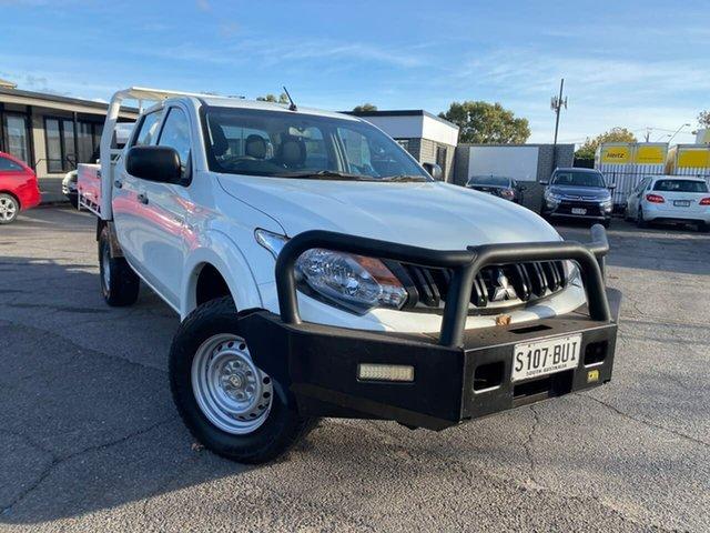 Used Mitsubishi Triton MQ MY18 GLX Double Cab Hillcrest, 2018 Mitsubishi Triton MQ MY18 GLX Double Cab White 6 Speed Manual Cab Chassis
