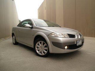 2007 Renault Megane II E84 Phase II Dynamique Silver Chrome 4 Speed Automatic Cabriolet.